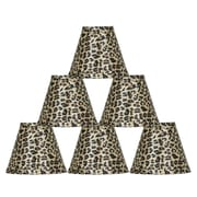 Bloomsbury Market 6'' Leopard Empire Lamp Shade (Set of 6)