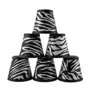 Bloomsbury Market 5'' Zebra Empire Lamp Shade w/ Clip-on (Set of 6)