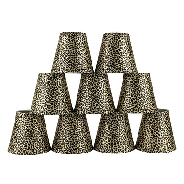 Bloomsbury Market 5'' Cheetah Empire Lamp Shade w/ Clip-on (Set of 9)