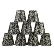 Bloomsbury Market 5'' Leopard Empire Lamp Shade w/ Clip-on (Set of 9)
