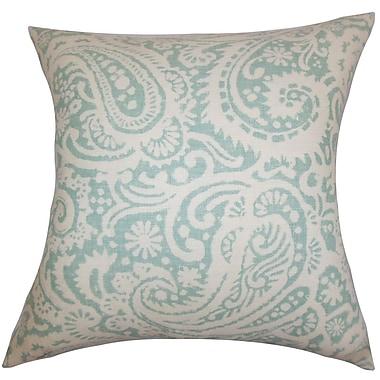 Darby Home Co Fairdale Paisley Cotton Blend Floor Pillow; Aqua