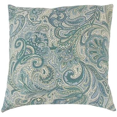 Darby Home Co Fallsburg Paisley Cotton Blend Floor Pillow; Danube