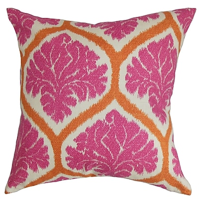 Darby Home Co Farnborough Floral Cotton Blend Floor Pillow; Pink