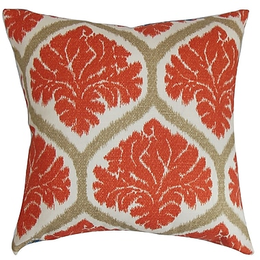 Darby Home Co Farnborough Floral Cotton Blend Floor Pillow; Russett