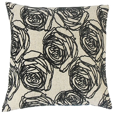 Darby Home Co Faulkner Floral Cotton Blend Floor Pillow; Domino