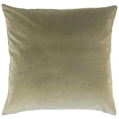 Darby Home Co Fernson Solid Cotton Blend Floor Pillow; Oak