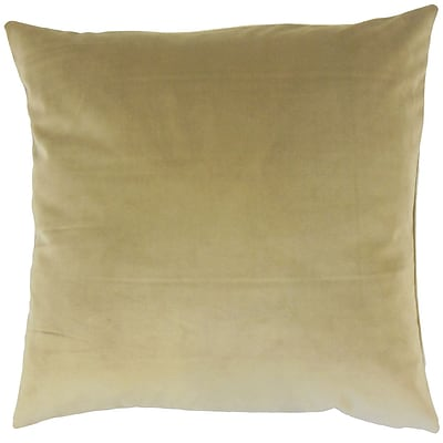 Darby Home Co Fernson Solid Cotton Blend Floor Pillow; Olive