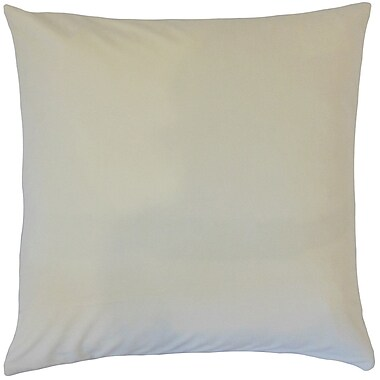 Darby Home Co Fernson Solid Cotton Blend Floor Pillow; Pearl