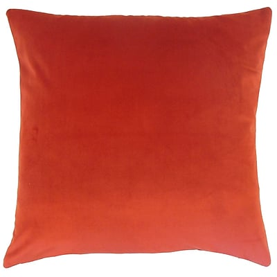 Darby Home Co Fernson Solid Cotton Blend Floor Pillow; Salsa