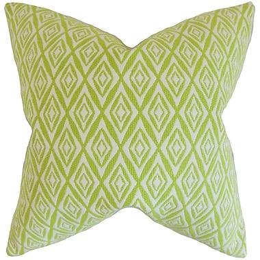 Brayden Studio Brandan Geometric Cotton Blend Floor Pillow; Green