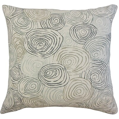 Brayden Studio Zakary Graphic Floor Pillow Beach; Mineral