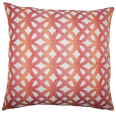 Brayden Studio Julien Geometric Floor Pillow Coral; Coral