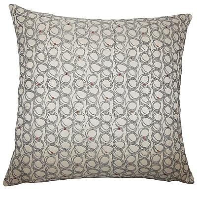 Brayden Studio Hakeem Geometric Floor Pillow Blueberry; Licorice