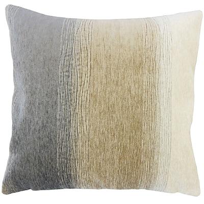 Brayden Studio Ruggiero Ombre Floor Pillow Charcoal; Charcoal