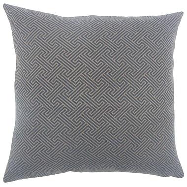 Brayden Studio Fullerton Geometric Floor Pillow Brown; Brown