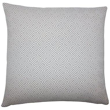 Brayden Studio Fullerton Geometric Floor Pillow Brown; Linen