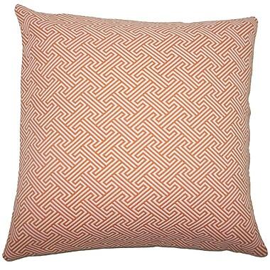 Brayden Studio Fullerton Geometric Floor Pillow Brown; Orange
