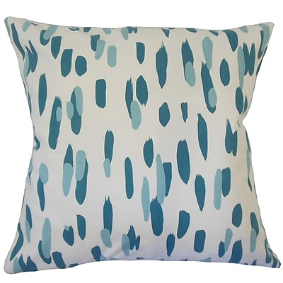 Brayden Studio Wigfall Graphic Down Filled 100pct Cotton Lumbar Pillow; Pool