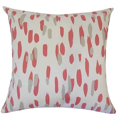 Brayden Studio Wigfall Graphic Down Filled 100pct Cotton Lumbar Pillow; Rhubarb