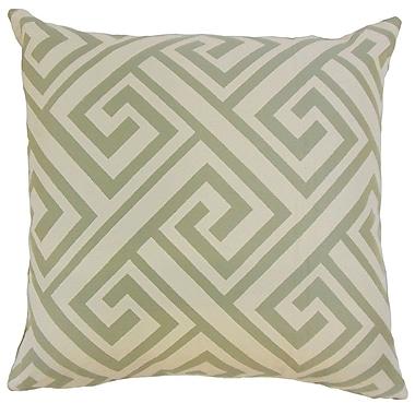 Brayden Studio Kriner Geometric Cotton Blend Floor Pillow; Celadon