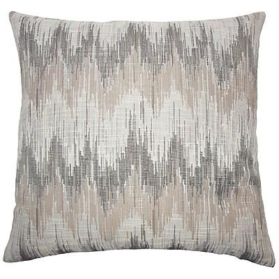 Brayden Studio Wiegand Ikat Down Filled Lumbar Pillow; Driftwood