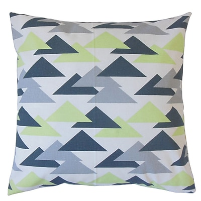 Brayden Studio Kropp Geometric Floor Pillow Kiwi; Kiwi