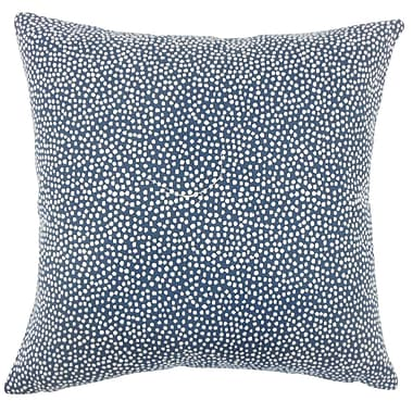 Brayden Studio Wilbanks Ikat Down Filled Lumbar Pillow; Navy