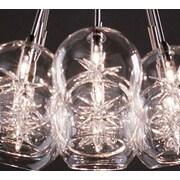 Brayden Studio Kugler 9-Light Pendant; Globe with Star Clear