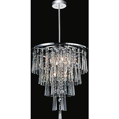 CrystalWorld 6-Light Crystal Chandelier; 88'' H x 16'' W x 16'' D