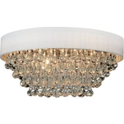CrystalWorld 8-Light Flush Mount; White
