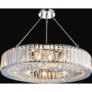 CrystalWorld Leanne 9-Light Semi Flush Mount