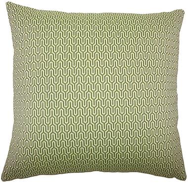 Corrigan Studio Perry Geometric Cotton Blend Floor Pillow; Jungle