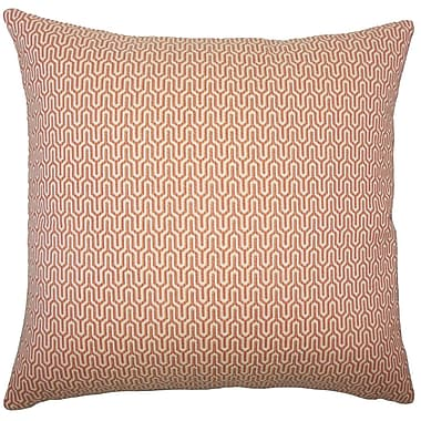 Corrigan Studio Perry Geometric Cotton Blend Floor Pillow; Melon