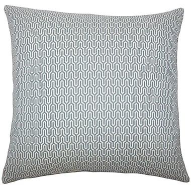 Corrigan Studio Perry Geometric Cotton Blend Floor Pillow; Sky