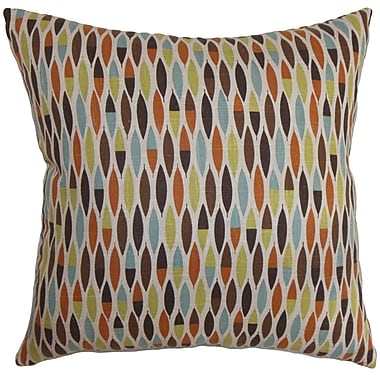 Corrigan Studio Rudy Geometric Cotton Blend Floor Pillow; Blue/Green