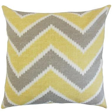 Corrigan Studio Dwight Zigzag Floor Pillow Chamois; Chamois