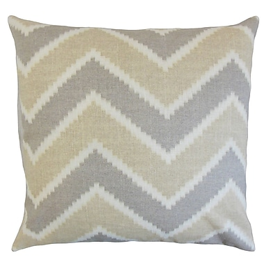Corrigan Studio Dwight Zigzag Floor Pillow Chamois; Jute