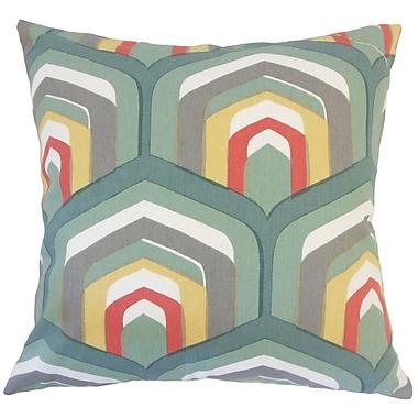 Corrigan Studio Jarrett Geometric Floor Pillow Cognac; Dew