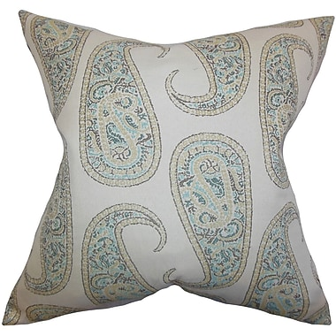 Darby Home Co Chapp Paisley Cotton Blend Floor Pillow; Blue