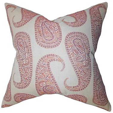 Darby Home Co Chapp Paisley Cotton Blend Floor Pillow; Orange