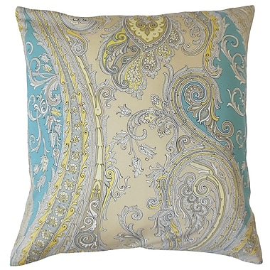 Darby Home Co Chateau Paisley Cotton Blend Floor Pillow; Sunray