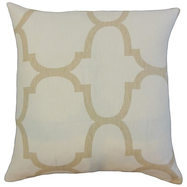 Darby Home Co Channon Geometric Floor Pillow Clove; Ivory