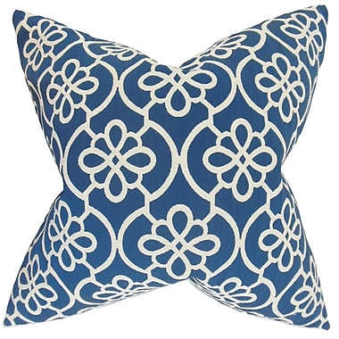 Darby Home Co Chaplain Geometric Cotton Blend Floor Pillow; Navy