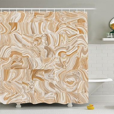 East Urban Home Decorative Vintage Marble Stone w/ Irregular Dimensions Image Shower Curtain Set