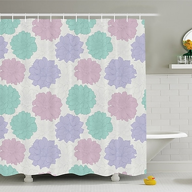 National Local Mexican Flower Ancient Aztec Culture Perennial Roots Plant Shower Curtain Set