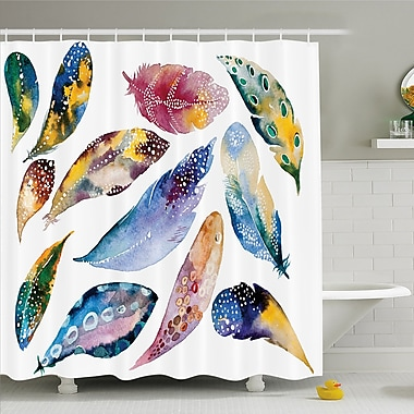 East Urban Home Asian Indian Magic and Balance Harmony Print Shower Curtain Set; 84'' H x 69'' W