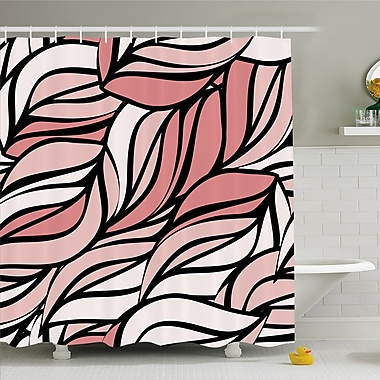 Curving Mix Twisted Forms w/ Tangled Lines Knotty Color Illustration Image Shower Curtain Set