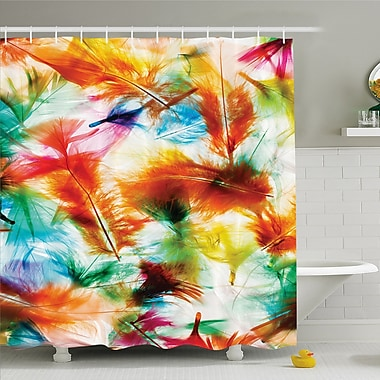 Psychedelic Blurry Mix Pure Energy of Love and Life Wing Art Icons Shower Curtain Set