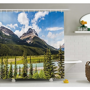 East Urban Home Canadian Cliffs High Tops and Ranges in Spring Day Panorama Image Shower Curtain Set