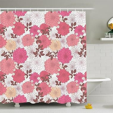 East Urban Home Dahlia Flower Mix of Blossoms Bouquet Romantic Retro Leaflets Shower Curtain Set